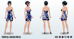 GardenPartySpin - Tropical Garden Dress
