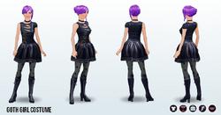 Halloween2013 - Goth Girl Costume