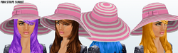 Lusso - Pink Stripe Sunhat