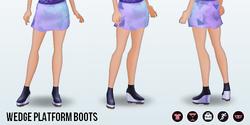 HangOutWithYourBesties - Wedge Platform Boots
