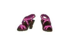 Pink Strappy Sandals