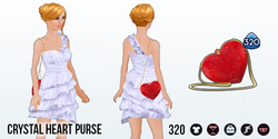 GirlInRedClothing - Crystal Heart Purse