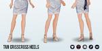 FashionForecast - Tan Crisscross Heels