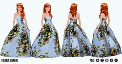 FloraAndFaunaSpreeSpin - Floral Gown