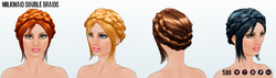 12DaysOfChristmas - Milkmaid Double Braids