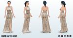 FashionForecast - White Halter Gown