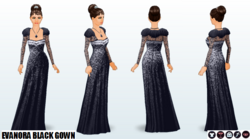 Preview - Evanora Black Gown