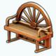 Cowgirls - Wagon Wheel Bench
