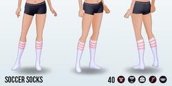 Athena - Soccer Socks pink