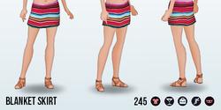 RivieraEscape - Blanket Skirt