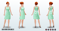 Summer - Chevron Sun Dress