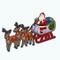 ChristmasDecor - Santa and Sleigh