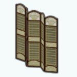 TropicalParadiseSpin - Luau Folding Screen