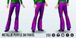 SkiTrip - Metallic Purple Ski Pants