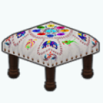 DestinationMexicoSpin - Embroidered Footstool