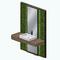 GreenhouseBathroomDecor - Green Wall Sink