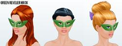 Venice - Green Reveler Mask