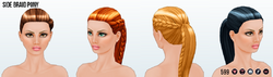 SpringFlingClothing - Side Braid Pony