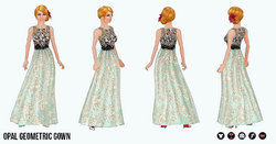 TheVault - Opal Geometric Gown
