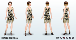 MetallicArtDecoSpin - Fringed Mini Dress