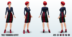 HollyJollySpin - Tree Trimming Outfit