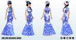 ChineseGala - Dueling Dragons Gown