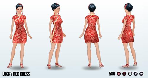 LuckyChineseNewYear - Lucky Red Dress