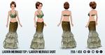 NeverworldSpin - Lagoon Mermaid Top and Skirt