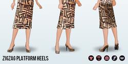 HangOutWithYourBesties - Zigzag Platform Heels