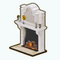 ChampagneRoseDecor - Opulent Fireplace