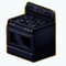 BlackKitchenDecor - Black Stove