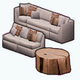 CountryCharmSpin - Modular Couch and Table