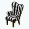 ModerneNoirDecor - Striped Noir Armchair