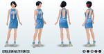 StressAwarenessMonth - Cerulean Halter Dress
