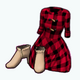 HarvestSpin - Apple Picking Dress and Ruffle Booties