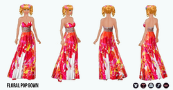 SpringBreak - Floral Pop Gown