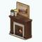 AmericanColonialDecor - Dark Wood Fireplace