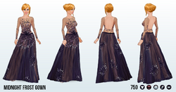 YuleBall - Midnight Frost Gown