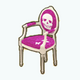 GothGirlSpin - Pink Antique Skull Chair