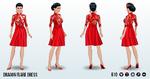 ChineseNewYear - Dragon Flare Dress