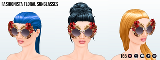 TutusFreakyFashionFestivities - Fashionista Floral Sunglasses