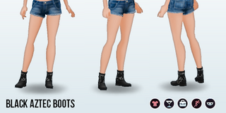 SkiTrip - Black Aztec Boots