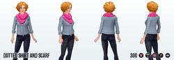 FashionBloggerSpin - Dotted Shirt and Scarf