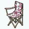 GlampingDecor - Floral Folding Chair