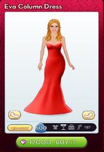 Eva Column Dress Red