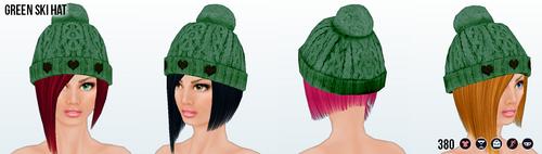 SkiTrip - Green Ski Hat