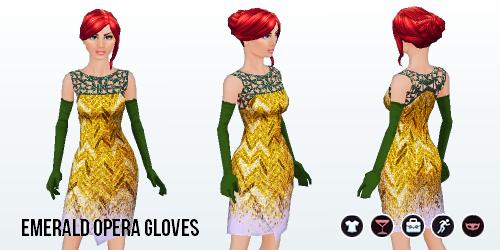 ChristmasCheer - Emerald Opera Gloves