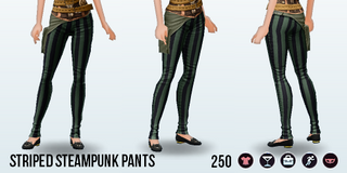 Steampunk - Striped Steampunk Pants