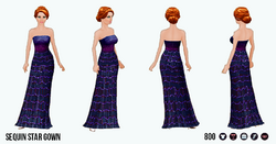 EveningSoiree - Sequin Star Gown