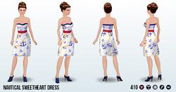 CafeRaffle - Nautical Sweetheart Dress